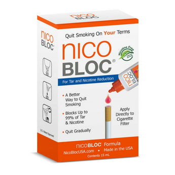 NicoBloc Natural Quit Smoking Tar Removal Drops