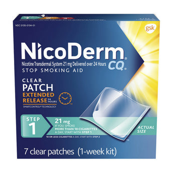 NicoDerm CQ Patch Nicotine Replacement Therapy Quit Smoking Aid