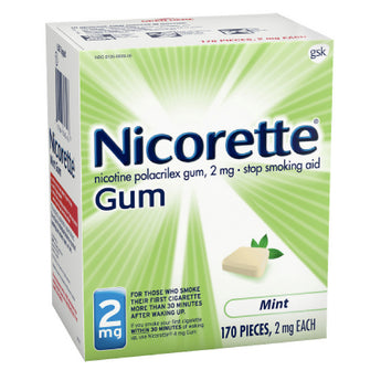 Nicorette Nicotine Replacement Therapy Gum Quit Smoking Aid