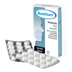 Acetium lozenge help protect mouth from cigarette smoke