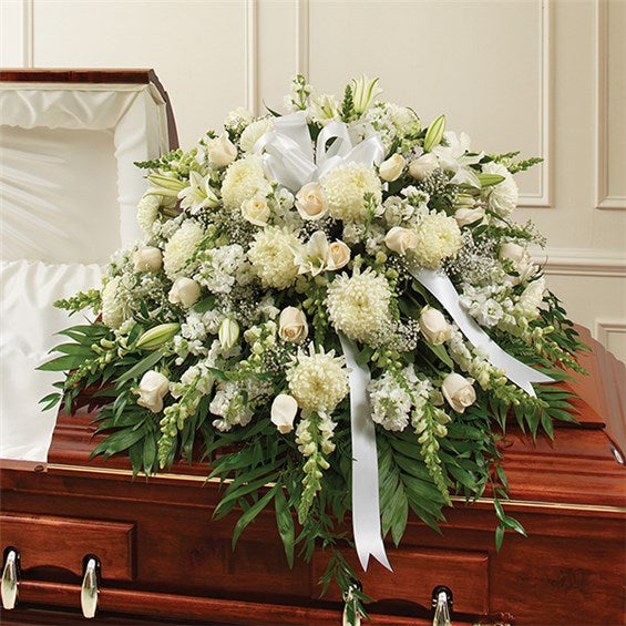 White Half Mixed Casket