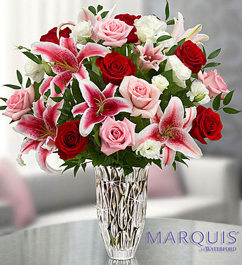 Blushing Rose and Lily Bouquet