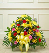 Bright Floor Basket Arrangement.