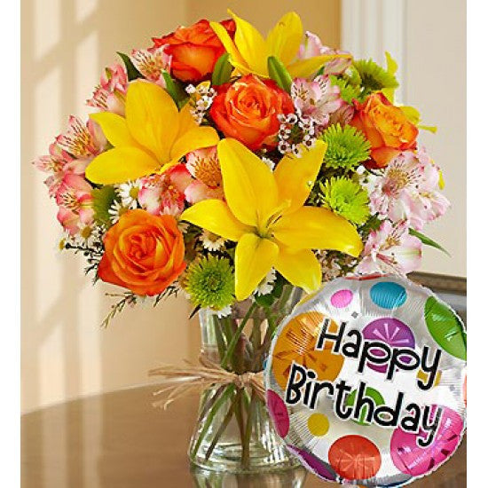Happy Birthday Bouquet Spring Garden Florist