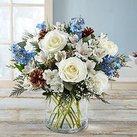 Winter Wishes Bouquet Showing--$59.99
