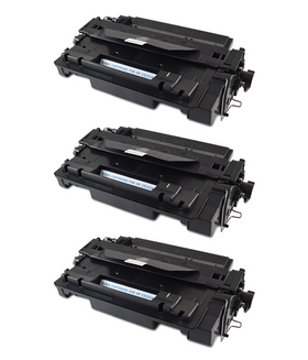 HP 55A/ CE255A Compatible Toner Cartridge (3-pack)