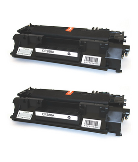 HP 80A/ CF280A Compatible Toner Cartridge (2-pack)