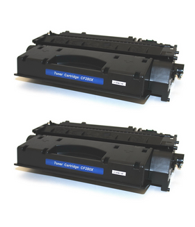 HP 80X/ CF280X Compatible Toner Cartridge (2-pack)
