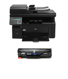 HP M1212NF LaserJet Pro Printer and 1 MTI MICR Cartridge