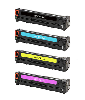 HP 131A 131X Compatible Color Toner Set CMYK (4-pack)