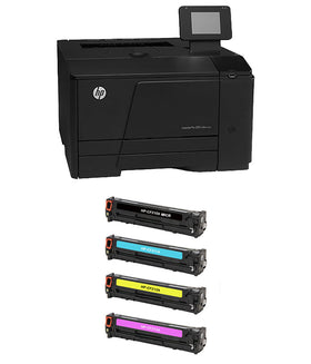 HP 200 M251nw Color Printer and 1 MICR Cartridge + CMY Color Set