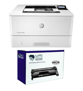 HP M404n LaserJet Pro Printer and 1 CF258A MTI MICR Cartridge