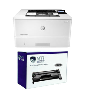 HP M404dn LaserJet Pro Printer and 1 CF258A MTI MICR Cartridge