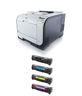 HP 400 M451nw MICR Color Printer Package: 1 MICR Cartridge, 1 Toner Set