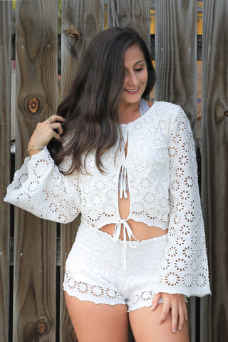 Gracie Top in Off White