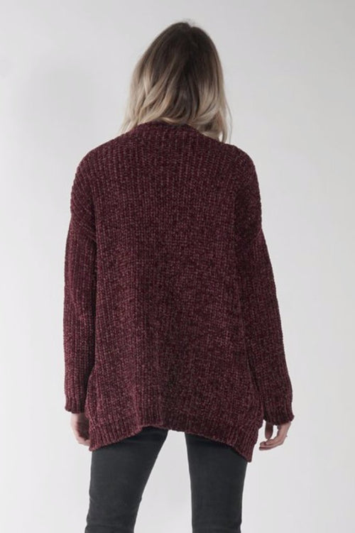 Celine Sweater in Wine - Marly Rae