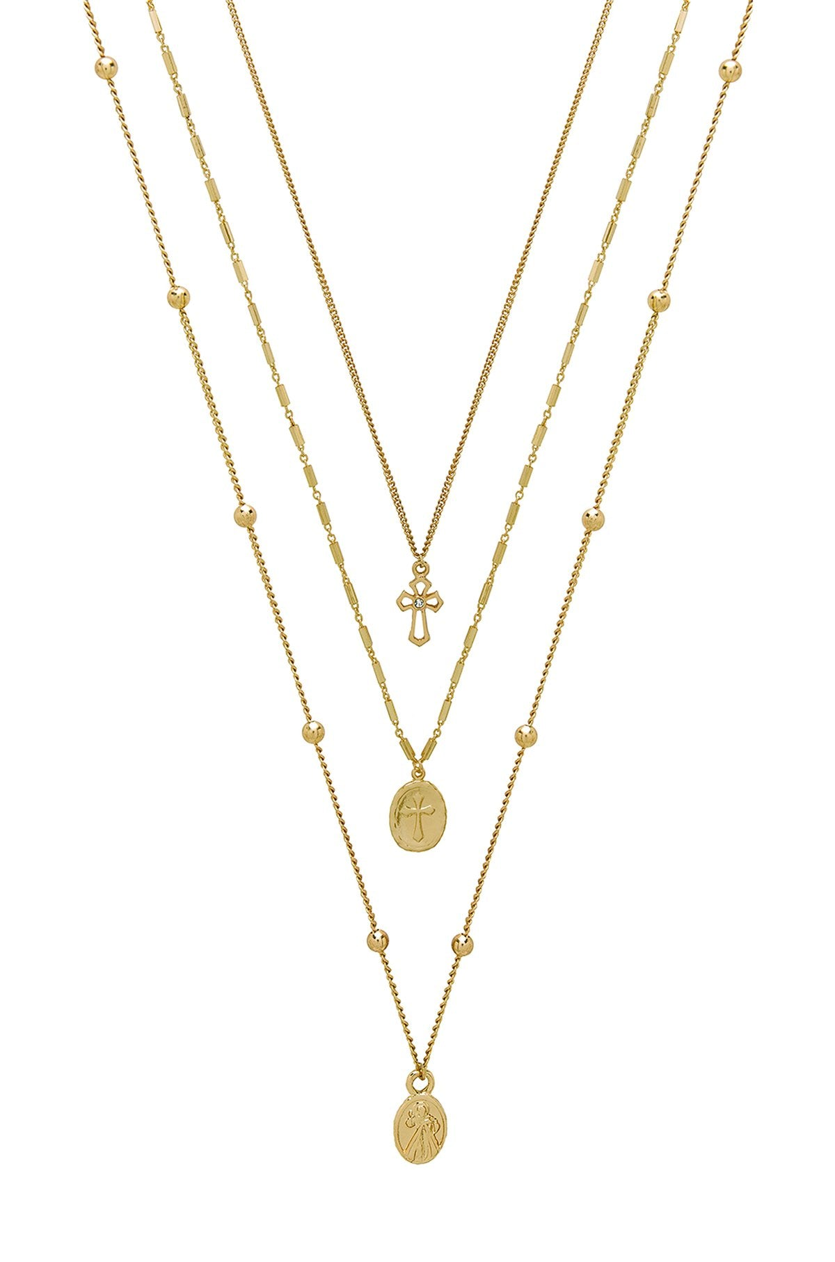 Ettika Let's Go Layers Necklace in Gold - House of Nima