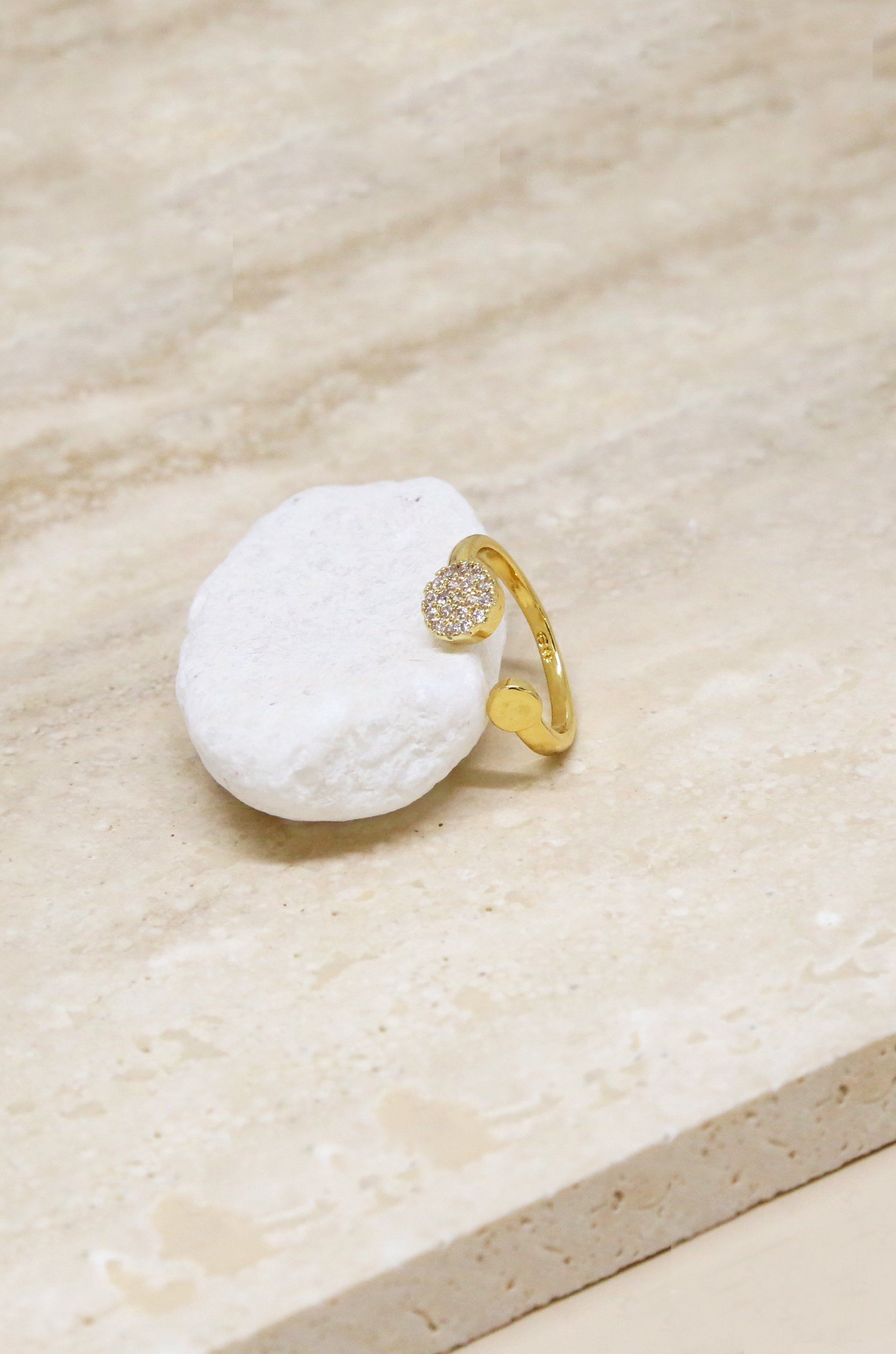 Ettika Open Love Ring with Crystals - House of Nima