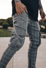 Delmar Plaid Cargos