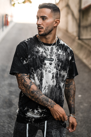 Salvador Black Marble Oversized Tee