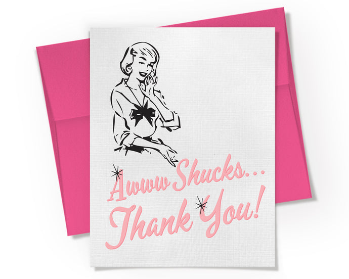 Awww Shucks Thank You Card.
