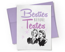 Besties Before Testes Card. Best Friends Birthday Card.