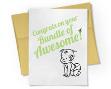 Card - Congrats on your Bundle of Awesome Card.