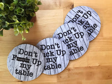 Coaster - Farmhouse Style - Don't F#ck Up My Table - Set of 4