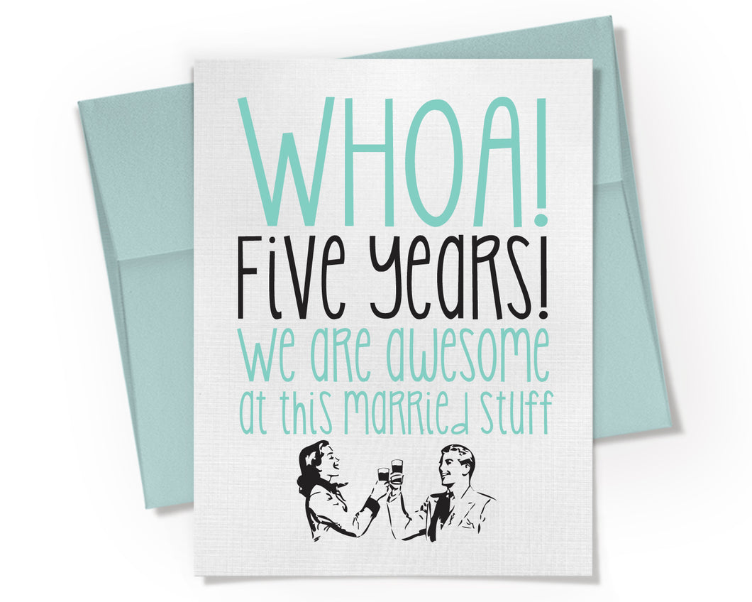 5th Anniversary Card.
