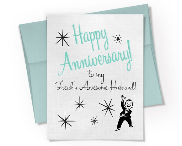 Card - Freak'n Awesome Husband Anniversary Card.