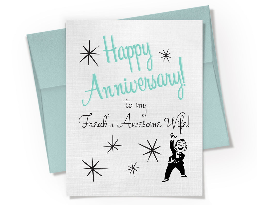 Card - Freak'n Awesome Wife Anniversary Card.