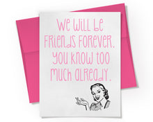 Best Friends Forever Card.