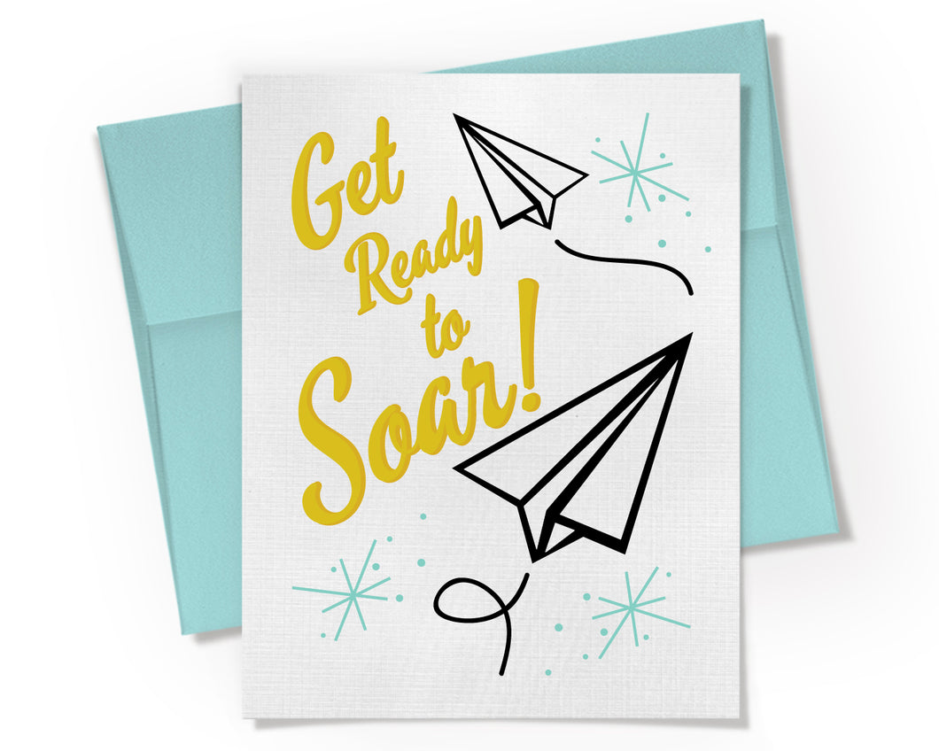 Card - Get Ready to Soar Graduation Card.