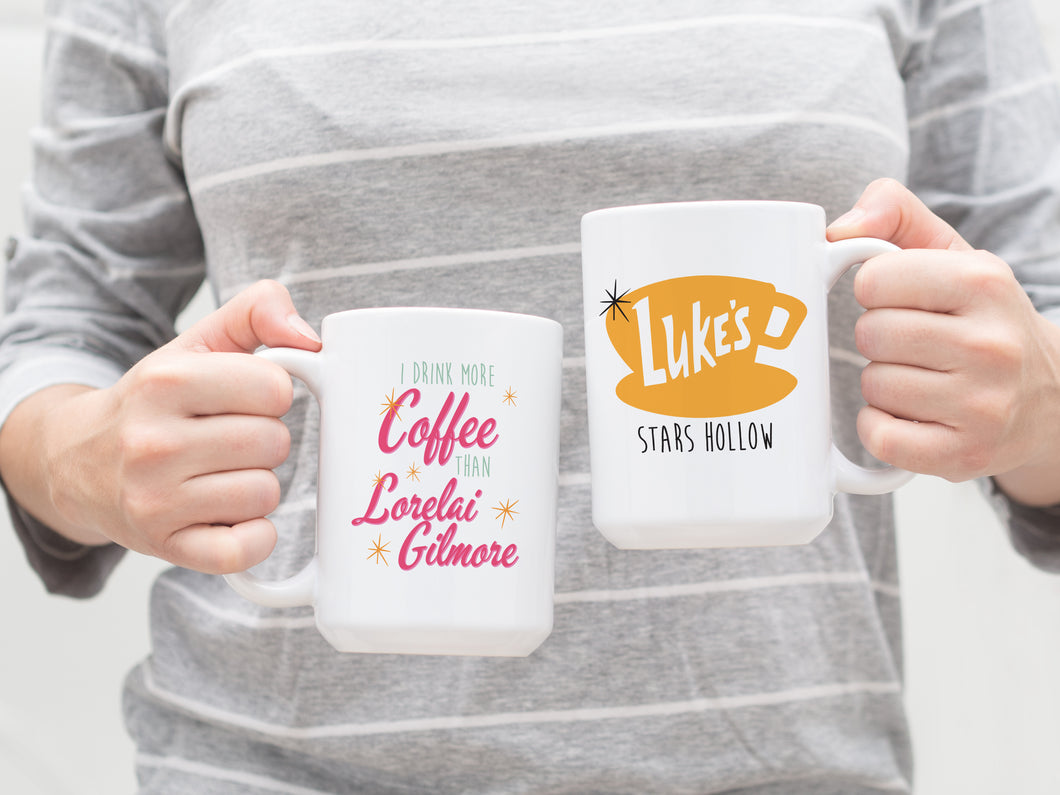 Mug - Gilmore Girls Lukes Diner Mug. Large Coffee Mug. Coffee Lovers Mug.