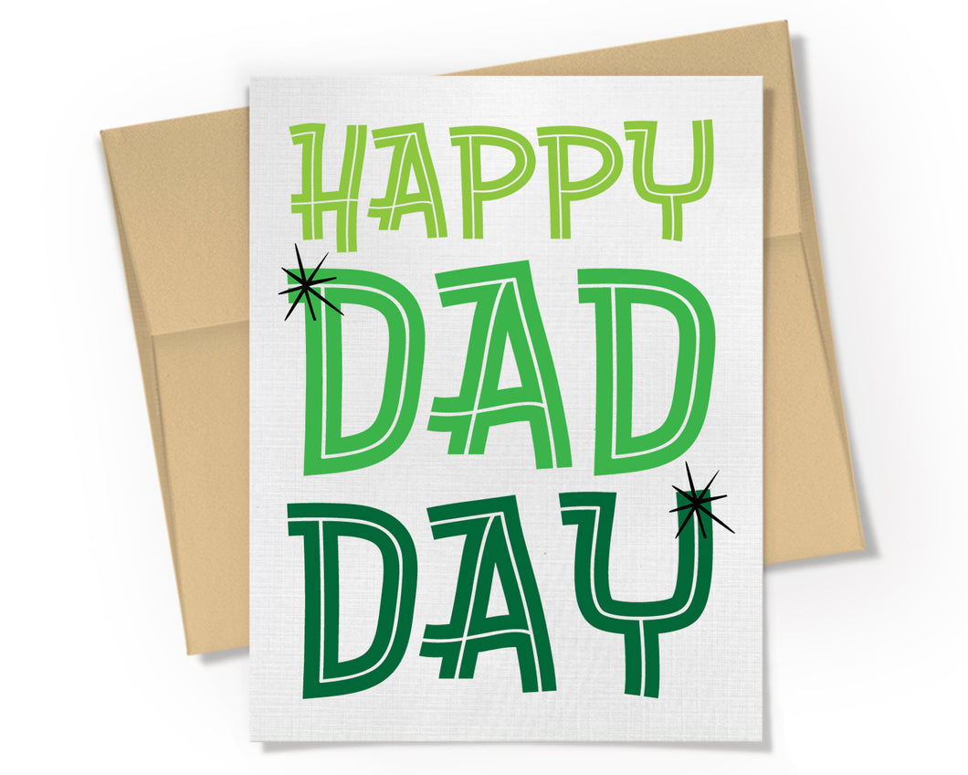 Happy Dad Day Card.