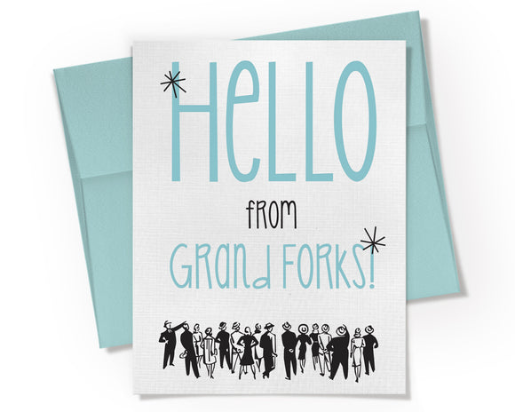 Card - Retro Hello from Your City or State. Customized. Personalized.