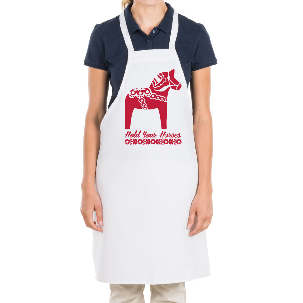 Apron - Hold Your Horses Swedish Dala Horse Apron