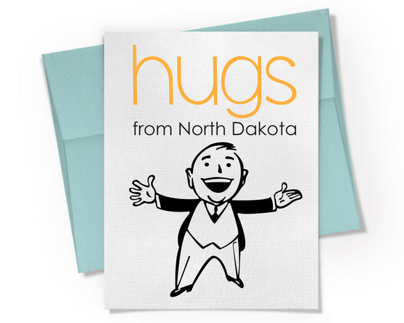 Card - Hugs from your State. Personalized.