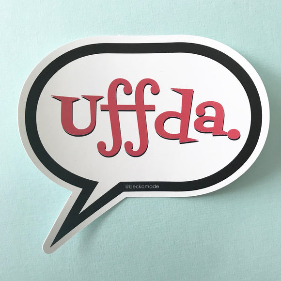 Sticker - Uffda Talk Bubble