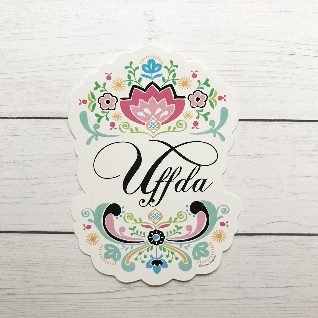 Sticker - Uffda Fancy Scandinavian Sticker