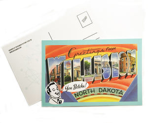 Postcard - Greetings from Williston, North Dakota
