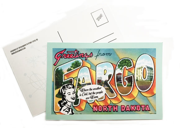 Postcard - Greetings from Fargo, North Dakota
