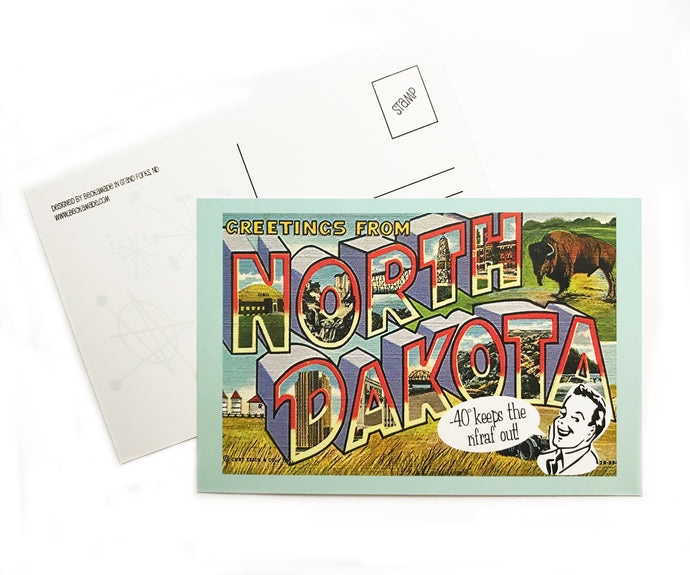 Postcard - Greetings from North Dakota Postcard
