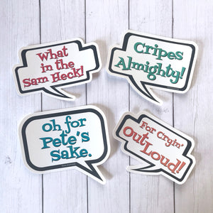 Sticker Pack - Midwest Swearing Set of 4