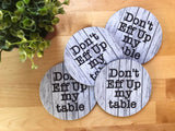 Coaster - Farmhouse Style - Don't Eff Up My Table - Set of 4