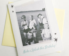 Make a Splash this Birthday Photo Card.