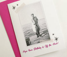 Hope Your Birthday is Off the Hook Retro Photo Card. Vintage Photo Card. Funny Birthday Card.