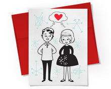 Card - Couple in Love Card.