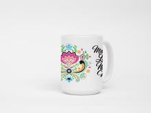 Floral Make Lefse Not War 15 oz Coffee Mug. Norwegian Scandinavian Mug.