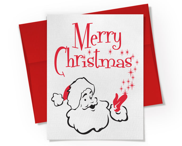 Card - Merry Christmas Santa Claus Card.